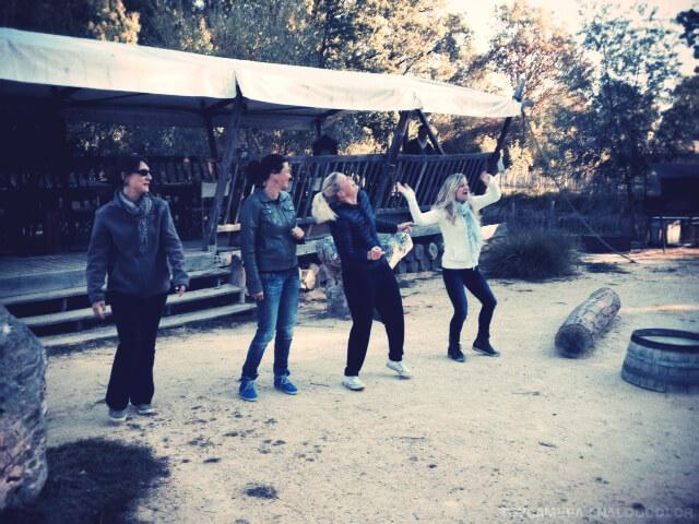 La danse au bivouac