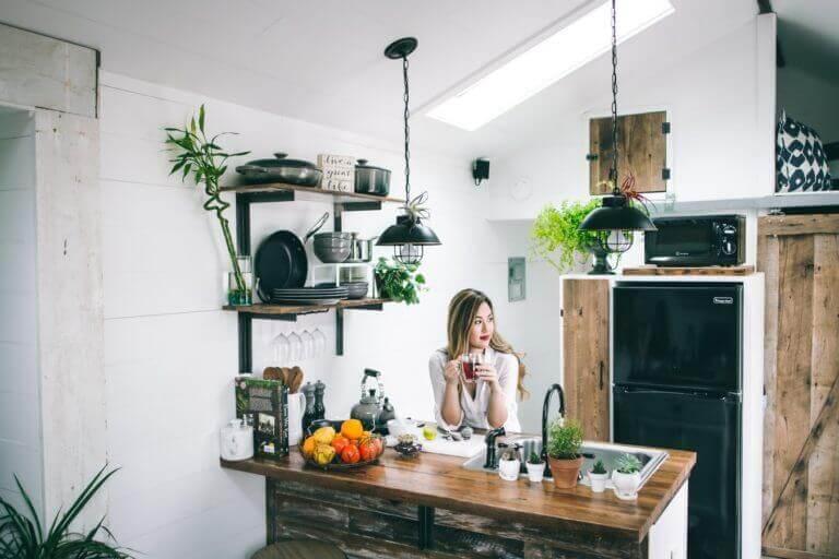 Cuisine amenagee dans logement neuf